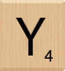 Scrabblewoorden met een y